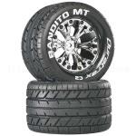 "Duratrax DTXC3503 Bandito MT 2.8"" 2WD Mounted Rear Tires, Chrome (2)"