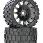 Scorpion Belted Monster Truck Wheels/Tires (PHBPHT1131S)