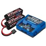 4S LiPo Completer Pack with Batteries (2) and 2973 EZ-Peak Live Dual Charger (TRA2997)
