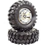 "1.9"" Beadlock ""K2"" Wheels + 108mm ""Muncher"" Crawler Tires (APX6156)"