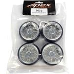 1/10 On-road Chrome Mesh Wheels & Drift Tire Set