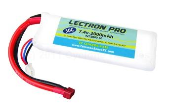 Lectron Pro  7.4V 2000mAh 50C Lipo Battery with Deans (2S200050D)