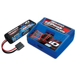 Traxxas  2S Single Battery/Charger Combo: (1) 7.4V 5800mAh LiPo Battery, (1) EZ-Peak Plus ID Charger TRA2992