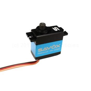Savox SAVSW1250MG Waterproof High Torque Metal Gear Mini Servo .10/111.1@6.0V, Ideal for Traxxas1/16 Scale