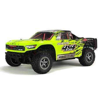 1/10 SENTON 3S BLX 4WD Brushless Short Course Truck with Spektrum RTR, Green/Black (ARA102721T1)