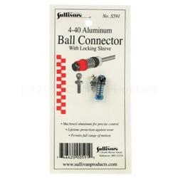 4-40 Aluminum Ball Link with Locking Sleeve (Blue) (SUL591)