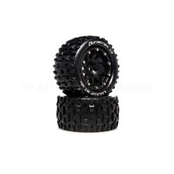Lockup MT Belted 2.8 2WD Mounted Rear Tires, 0 Offset, Black (2) (DTXC5517)