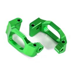Caster Blocks (c-hubs), 6061-t6 Aluminum (green-anodized), Left / Right/ 4x22mm Pin (4)/ 3x6mm Bcs )