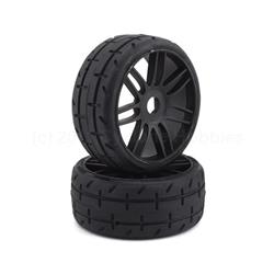 Belted Pre-Mounted 1/8 Buggy Tires (Black) (2) (S7) (GRPGTX01S7)