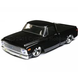 1/10 1972 Chevy C10 Pickup Truck V-100 S 4WD Brushed RTR, Black (VTR03100T1)