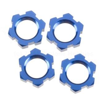 Traxxas  Anodized Wheel Nuts, 17mm, Blue (4 pcs): T-Maxx (TRA5353)